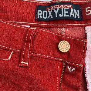 Quicksilver Roxy Jean Red Size 5 Bootcut